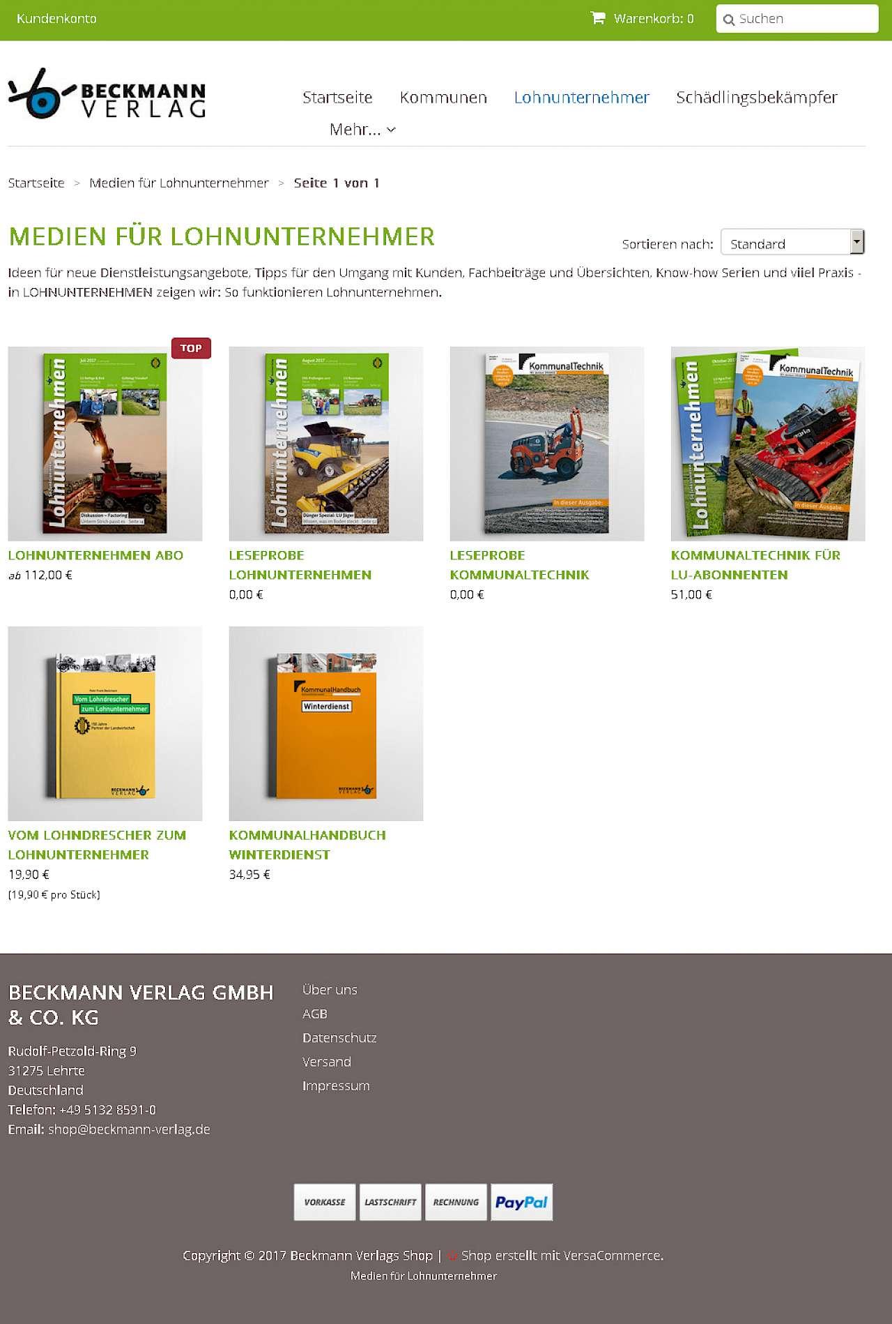 Mehr Komfort Durch Unseren Online Shop Beckmann Verlag